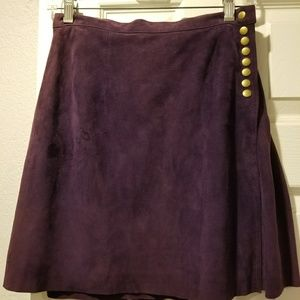 NWT Catherine Malandrino suede leather skirt